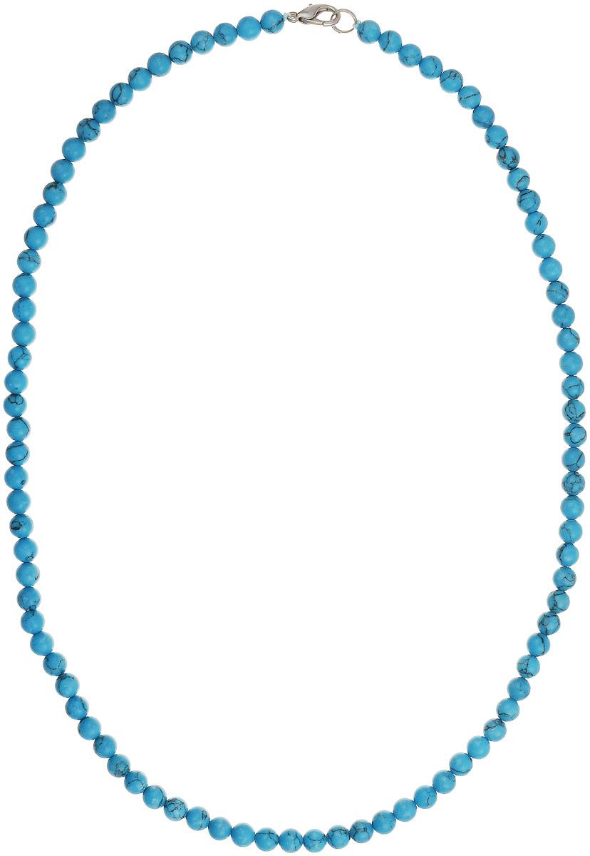 Бусы Art-Silver, цвет: голубой, длина 55 см. Б6-55-131Б6-55-131Бусы Art-Silver выполнены из натуральной бирюзы. Украшение имеет удобную застежку-карабин из бижутерного сплава. Мелкие бусины диаметром 5 мм из натуральной бирюзы, нанизанные на текстильную нить, имеют характерные прожилки, что подчеркивает естественное происхождение бусин.