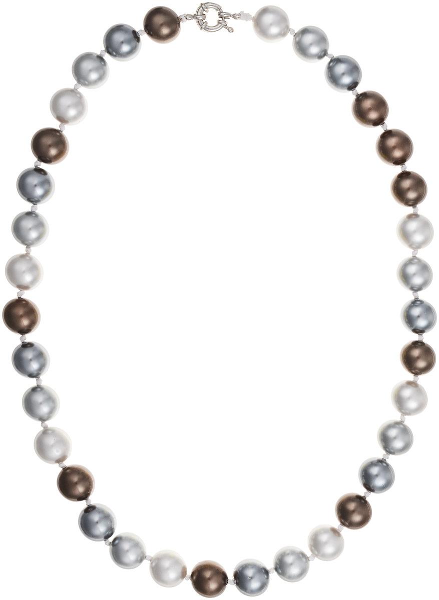 Бусы Art-Silver, цвет: серый, темно-коричневый, длина 55 см. МАЙ41455-932МАЙ41455-932Бусы Art-Silver изготовлены из материала майорка, который схож по свойствам с натуральным жемчугом. Изделие оформлено крупными однотонными бусинами и застегивается на шпренгельный замок из бижутерного сплава.