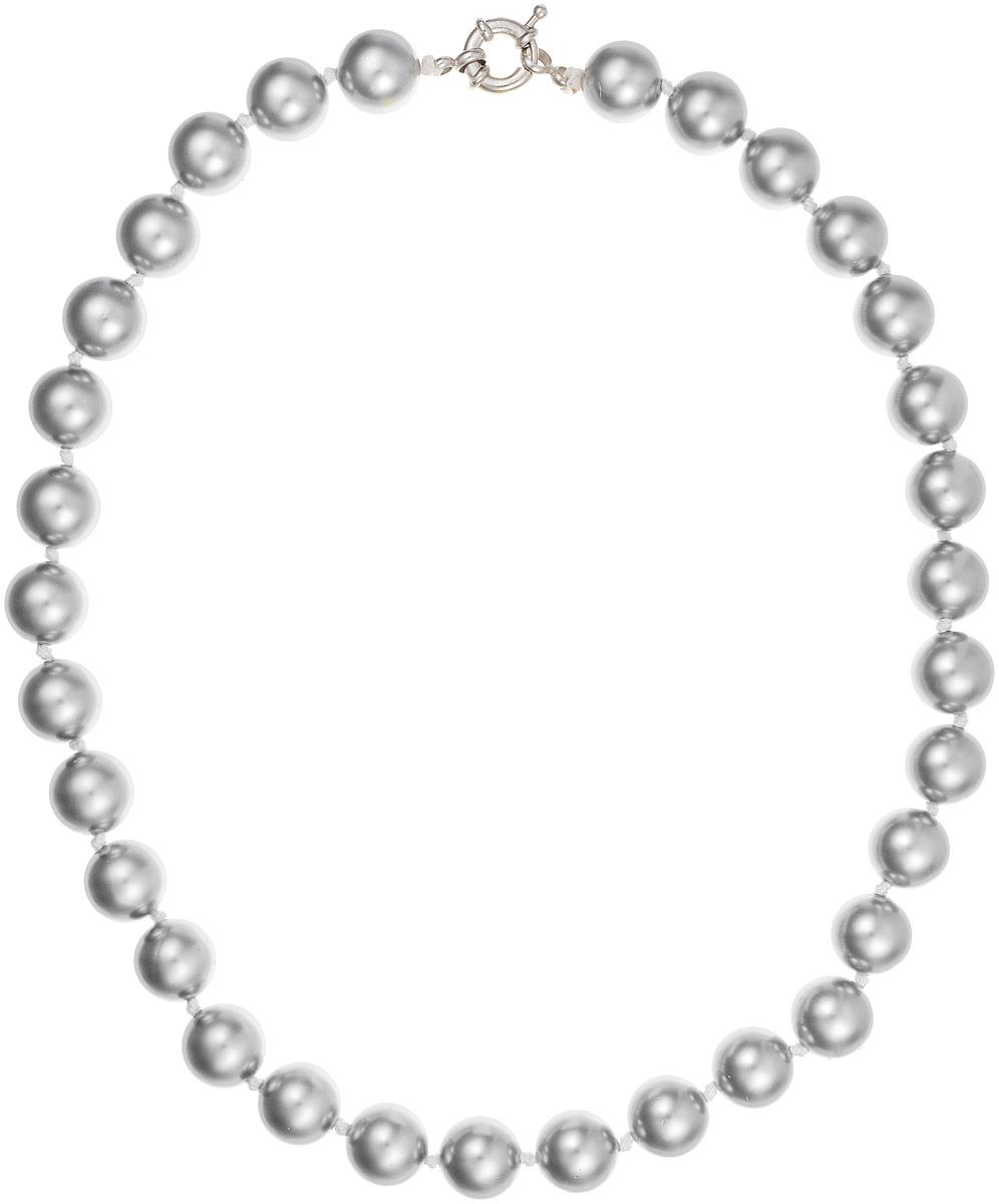 Бусы Art-Silver, цвет: серый, длина 45 см. МАЙ31245-556МАЙ31245-556Бусы Art-Silver выполнены из бижутерного сплава и искусственного жемчуга. Изделие оснащено удобной шпренгельной застежкой.