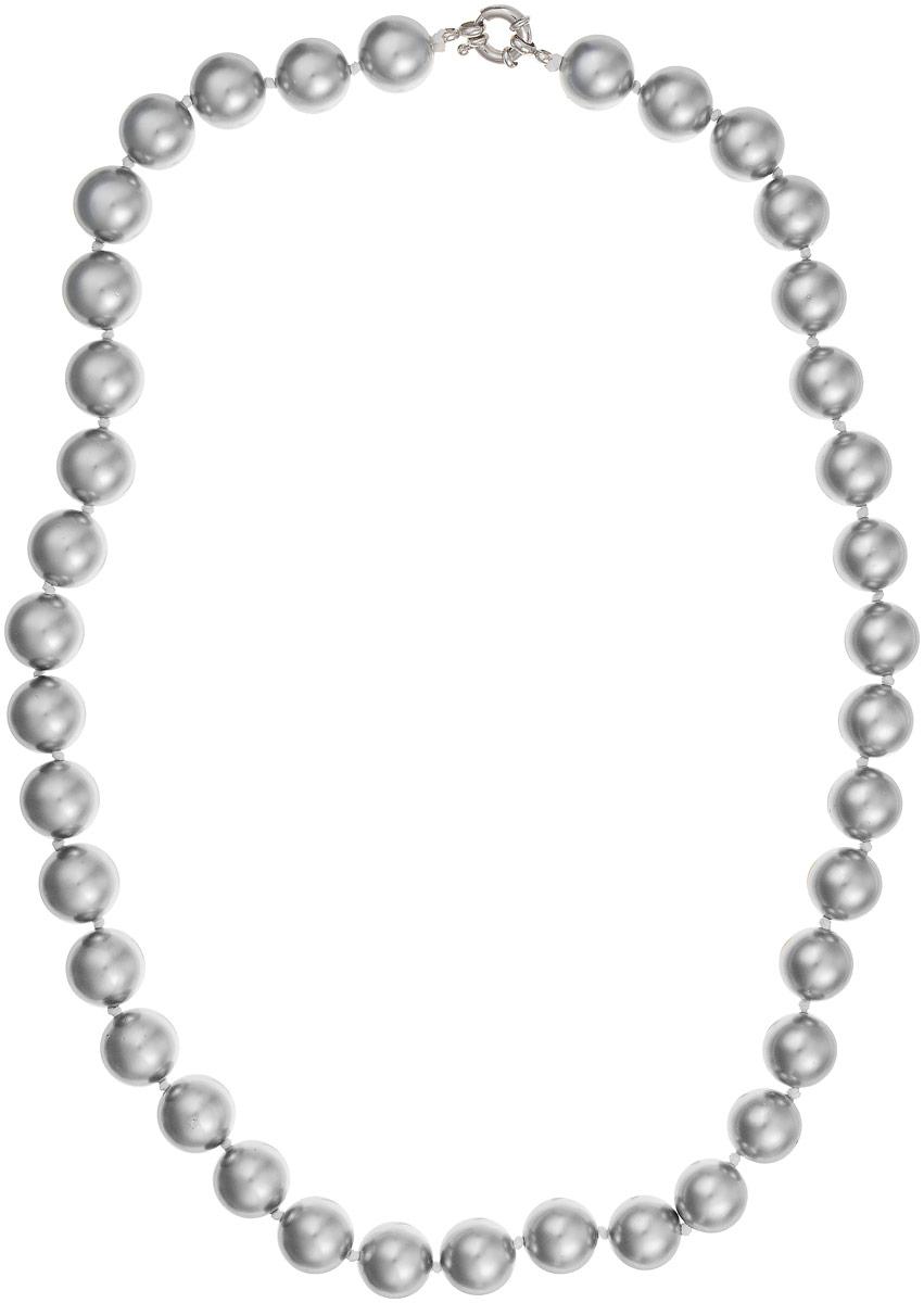 Бусы Art-Silver, цвет: серебристый, длина 60 см. МАЙ31460-972МАЙ31460-972Бусы Art-Silver выполнены из имитации жемчуга, нанизанного на текстильную нить. Украшение дополнено крупным удобным шпренгельным замочком из бижутерного сплава. Крупные бусины диаметром 13 мм выполнены в оригинальном серебристом цвете. Материал бусин по свойствам и виду максимально близок к натуральному жемчугу.