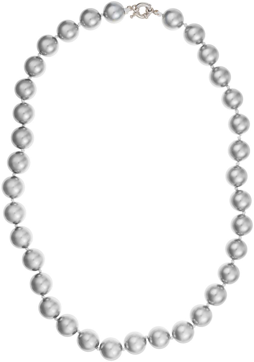 Бусы Art-Silver, цвет: серый металлик, длина 55 см. МАЙ31455-905МАЙ31455-905Бусы Art-Silver изготовлены из материала майорка, который схож по свойствам с натуральным жемчугом. Изделие оформлено крупными однотонными бусинами и застегивается на шпренгельный замок из бижутерного сплава.