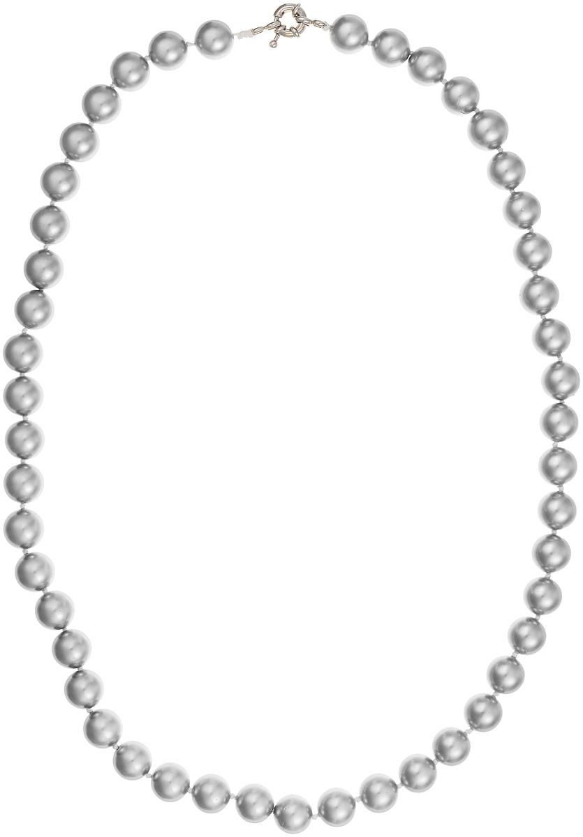 Бусы Art-Silver, цвет: серый, длина 55 см. МАЙ31055-554МАЙ31055-554Бусы Art-Silver выполнены из бижутерного сплава и искусственного жемчуга. Изделие оснащено удобной шпренгельной застежкой.