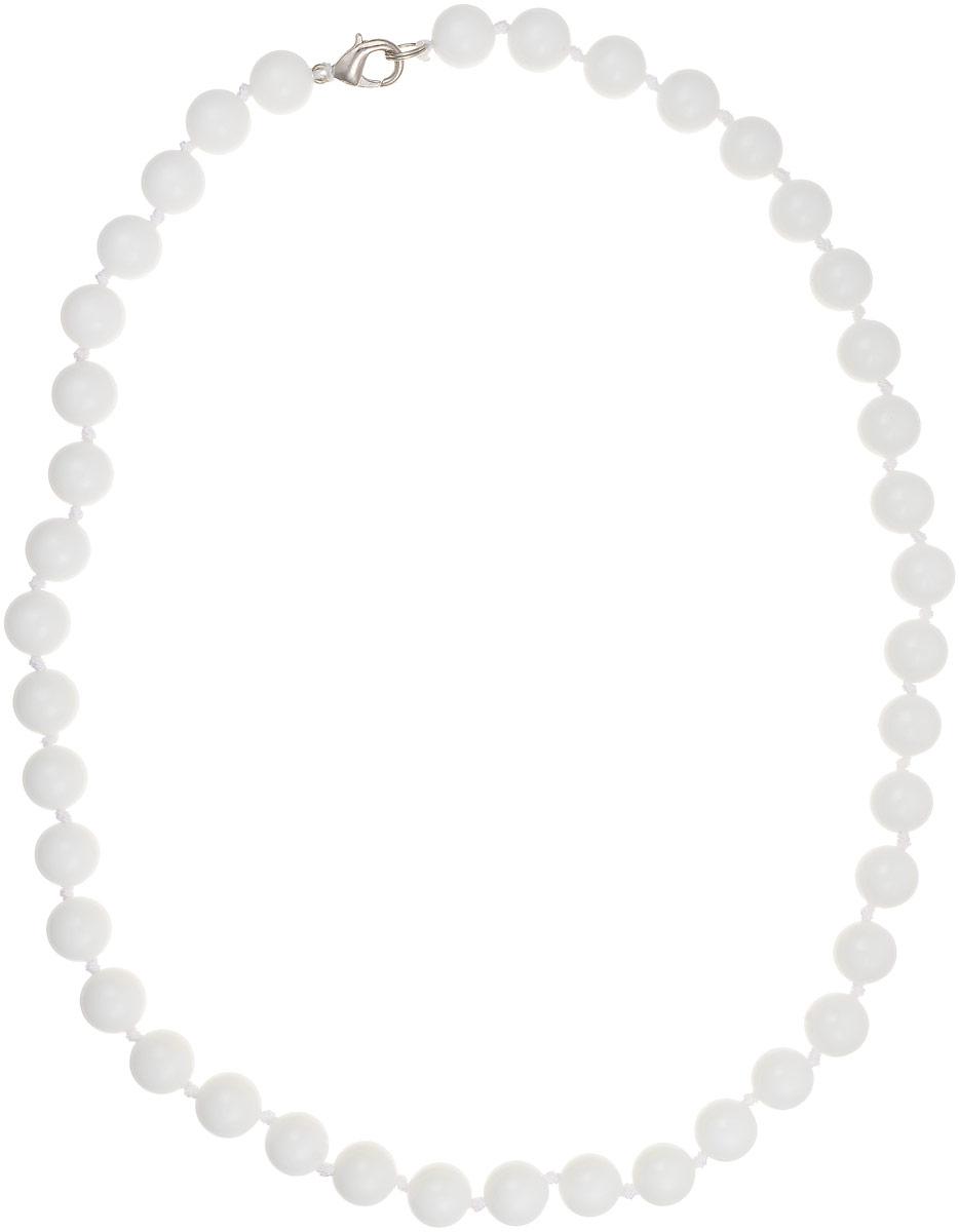 Бусы Art-Silver, цвет: белый, длина 50 см. КХ10-50-257КХ10-50-257Бусы Art-Silver выполнены из белоснежного кахолонга, нанизанного на текстильную нить. Украшение имеет удобный замок-карабин из бижутерного сплава. Бусины диаметром 11 мм из натурального кахолонга, который также называют калмыцким агатом, имеют благородный белый цвет, который превосходно подойдет как к вечерним, так и к повседневным нарядам.