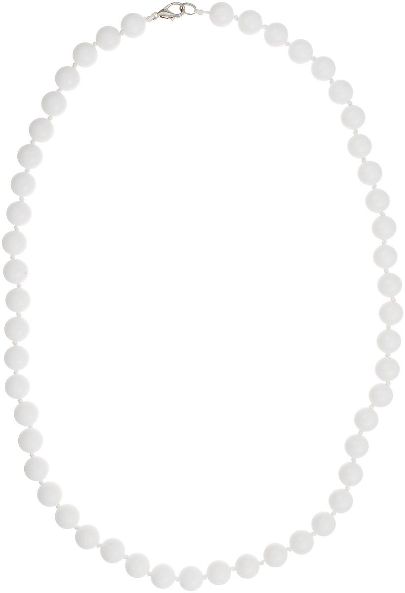 Бусы Art-Silver, цвет: белый, длина 60 см. КХ10-60-311КХ10-60-311Бусы Art-Silver выполнены из белоснежного кахолонга, нанизанного на текстильную нить. Украшение имеет удобный замок-карабин из бижутерного сплава. Бусины диаметром 10 мм из натурального кахолонга, который также называют калмыцким агатом, имеют благородный белый цвет, который превосходно подойдет как к вечерним, так и к повседневным нарядам.