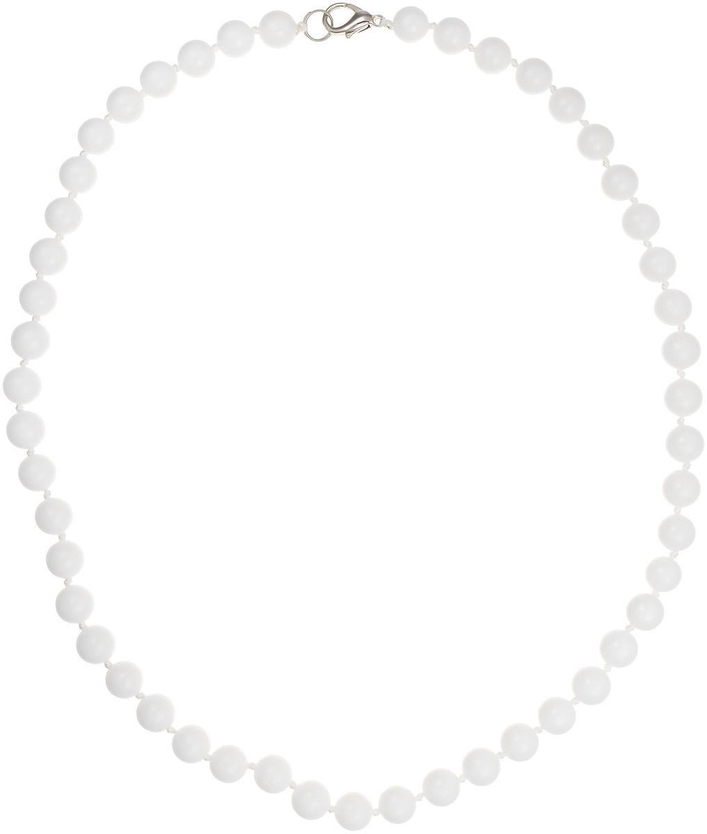 Бусы Art-Silver, цвет: белый, длина 45 см. КХ8-45-216КХ8-45-216Бусы Art-Silver выполнены из бижутерного сплава и кахолонга. Изделие оснащено удобным замком-карабином.