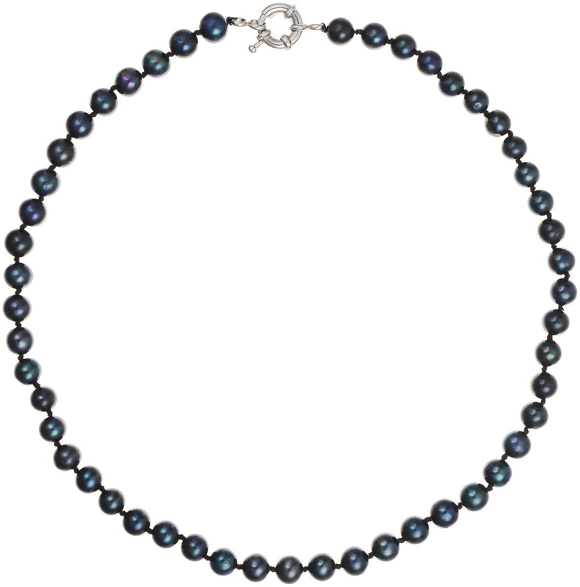 Бусы Art-Silver, цвет: черно-синий, длина 40 см. КЖ6-7АА+40-1050КЖ6-7АА+40-1050Бусы Art-Silver выполнены из бижутерного сплава и культивированного жемчуга. Изделие оснащено удобной шпренгельной застежкой.