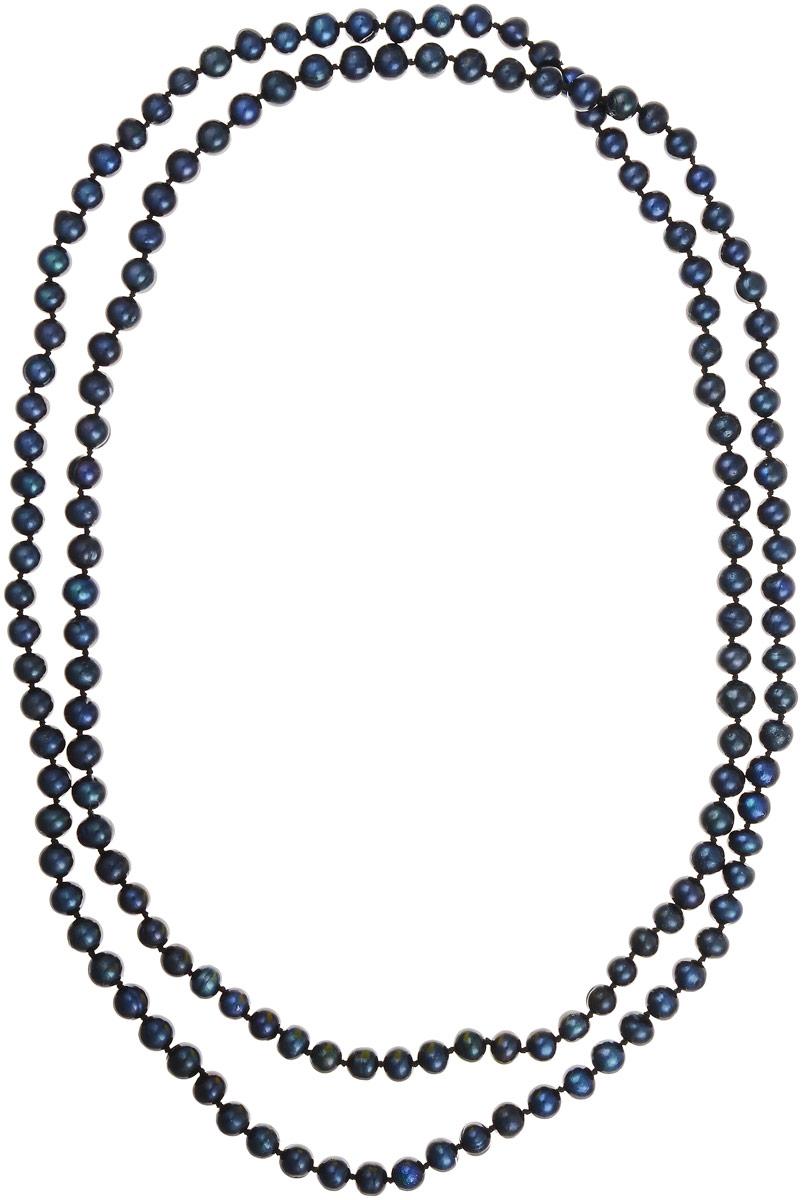 Бусы Art-Silver, цвет: черно-синий, длина 120 см. КЖ7-8АА120-2273КЖ7-8АА120-2273Бусы Art-Silver выполнены из культивированного жемчуга, нанизанного на текстильную нить. Украшение не имеет замочка, благодаря чему его легко надевать и снимать. Мелкие бусины диаметром 6-8 мм из натурального культивированного жемчуга благородного черного цвета с синим отливом имеют слегка неоднородную форму, что подчеркивает естественное происхождение жемчужин.