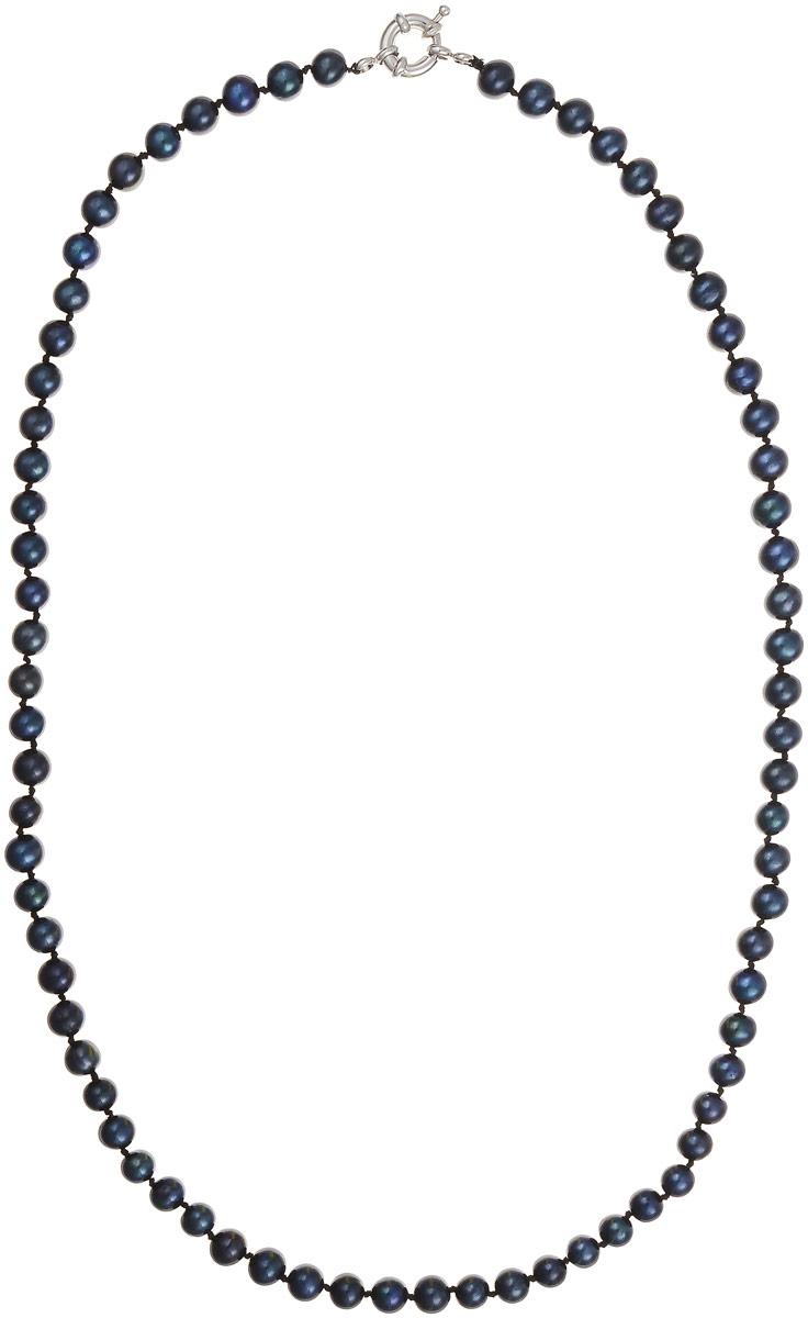 Бусы Art-Silver, цвет: черно-синий, длина 60 см. КЖ6-7АА+60-1563КЖ6-7АА+60-1563Бусы Art-Silver выполнены из бижутерного сплава и культивированного жемчуга. Изделие оснащено удобной шпренгельной застежкой.