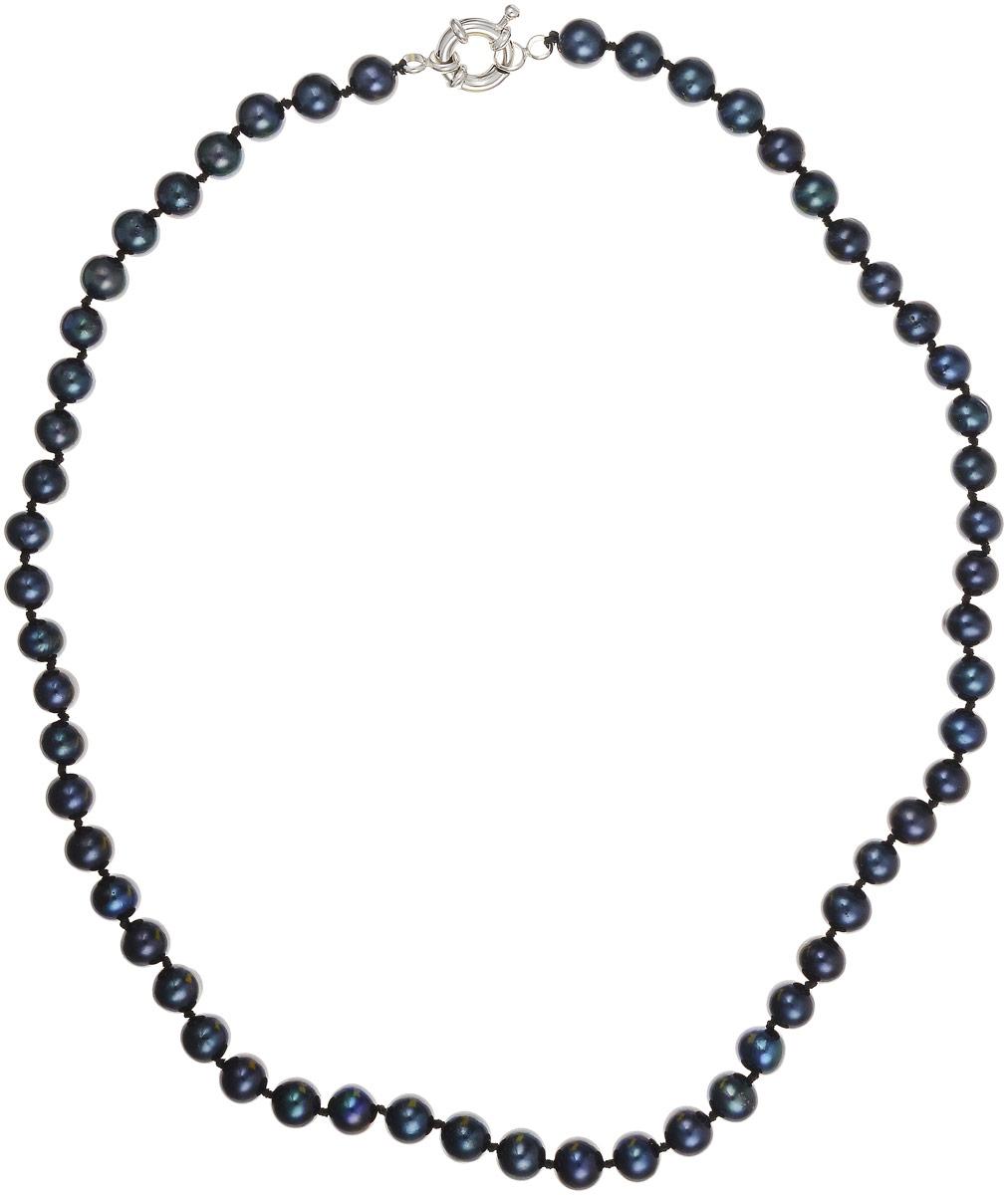Бусы Art-Silver, цвет: черно-синий, длина 45 см. КЖ6-7АА+45-1173КЖ6-7АА+45-1173Бусы Art-Silver выполнены из культивированного жемчуга, нанизанного на текстильную нить. Украшение застегивается на практичный шпренгельный замок. Мелкие бусины диаметром 6-8 мм из натурального культивированного жемчуга благородного черного цвета с синим отливом имеют слегка неоднородную форму, что подчеркивает естественное происхождение жемчужин.