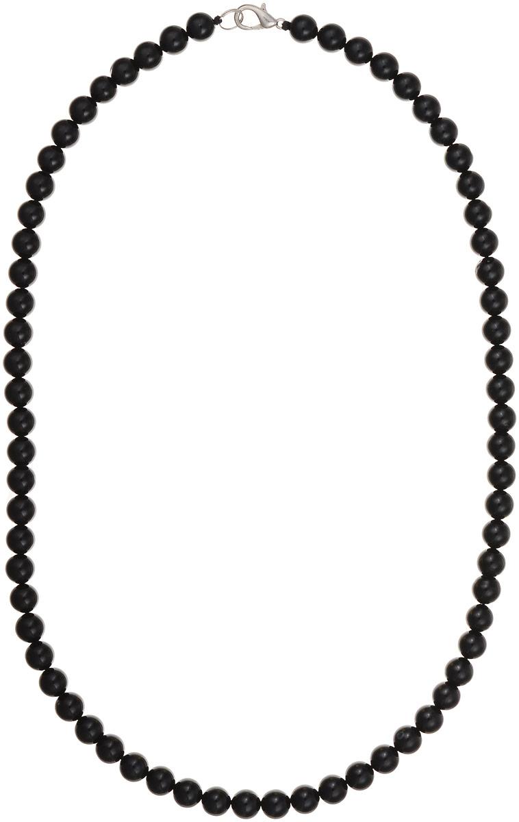 Бусы Art-Silver, цвет: черный, длина 55 см. ЧА8-55-282ЧА8-55-282Бусы Art-Silver выполнены из натурального агата, нанизанного на текстильную нить. Украшение застегивается на практичный карабин из бижутерного сплава. Мелкие бусины диаметром 7 мм имеют благородный черный цвет, характерный для агата. Такие бусы украсят как вечерний, так и повседневный наряд.