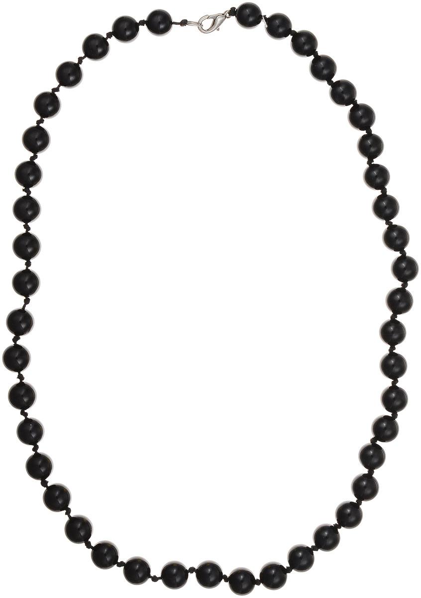 Бусы Art-Silver, цвет: черный, длина 55 см. ЧА10-55-381ЧА10-55-381Бусы Art-Silver выполнены из натурального агата, нанизанного на текстильную нить. Украшение застегивается на практичный карабин из бижутерного сплава. Бусины диаметром 10 мм имеют благородный черный цвет, характерный для агата. Такие бусы украсят как вечерний, так и повседневный наряд.