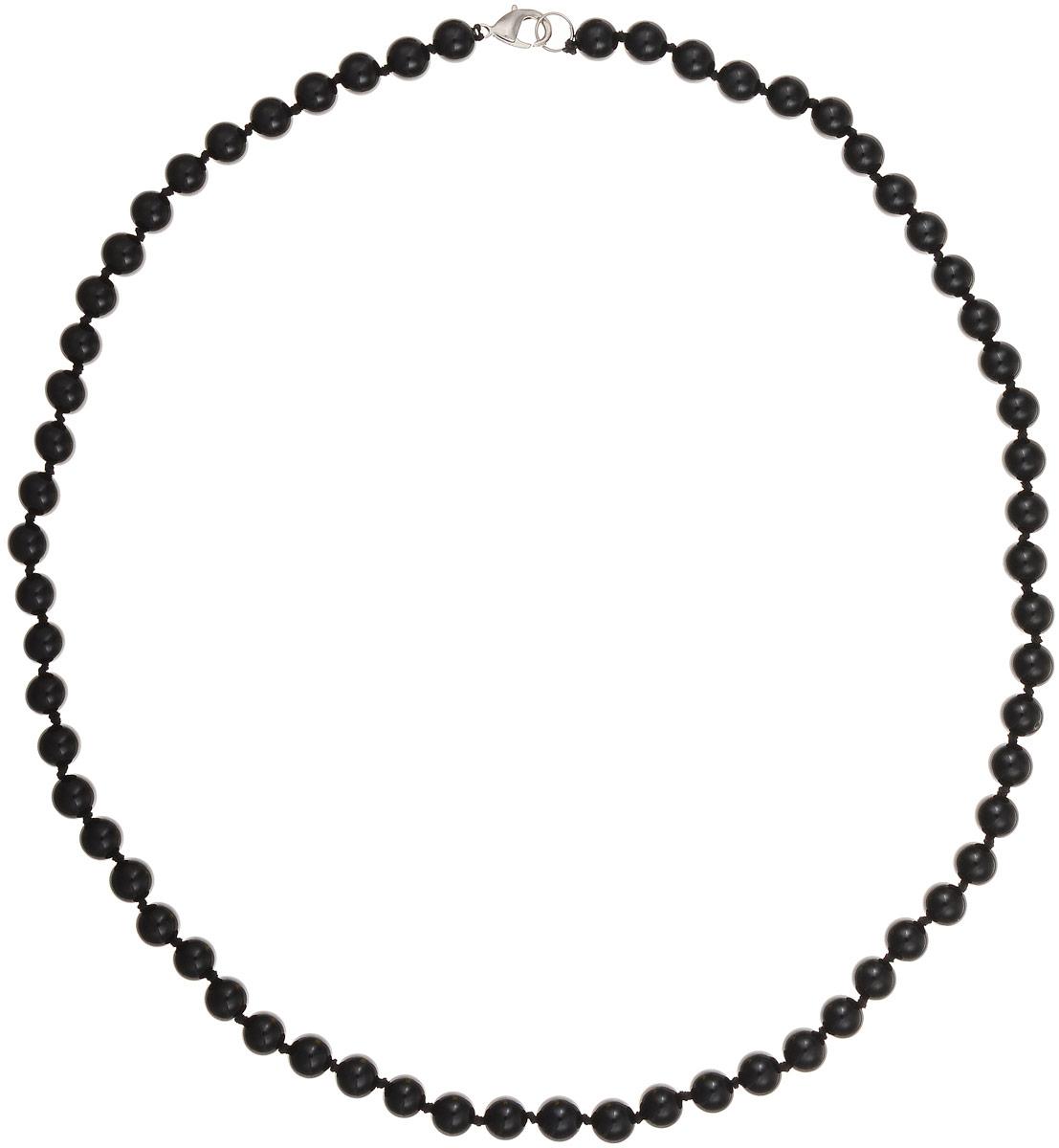 Бусы Art-Silver, цвет: черный, длина 60 см. ЧА8-60-309ЧА8-60-309Бусы Art-Silver выполнены из натурального агата, нанизанного на текстильную нить. Украшение застегивается на практичный карабин из бижутерного сплава. Бусины диаметром 7 мм имеют благородный черный цвет, характерный для агата. Такие бусы украсят как вечерний, так и повседневный наряд.