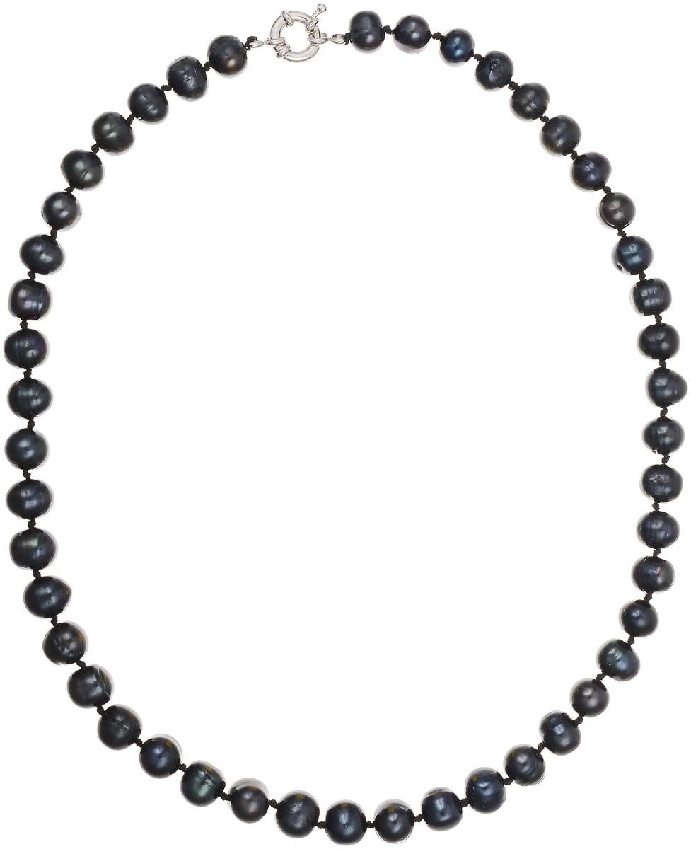 Бусы Art-Silver, цвет: черно-синий, длина 45 см. КЖ9-10А45-464КЖ9-10А45-464Бусы Art-Silver выполнены из культивированного жемчуга, нанизанного на текстильную нить. Украшение застегивается на практичный шпренгельный замок. Мелкие бусины диаметром 6-8 мм из натурального культивированного жемчуга благородного черного цвета с синим отливом имеют слегка неоднородную форму, что подчеркивает естественное происхождение жемчужин.