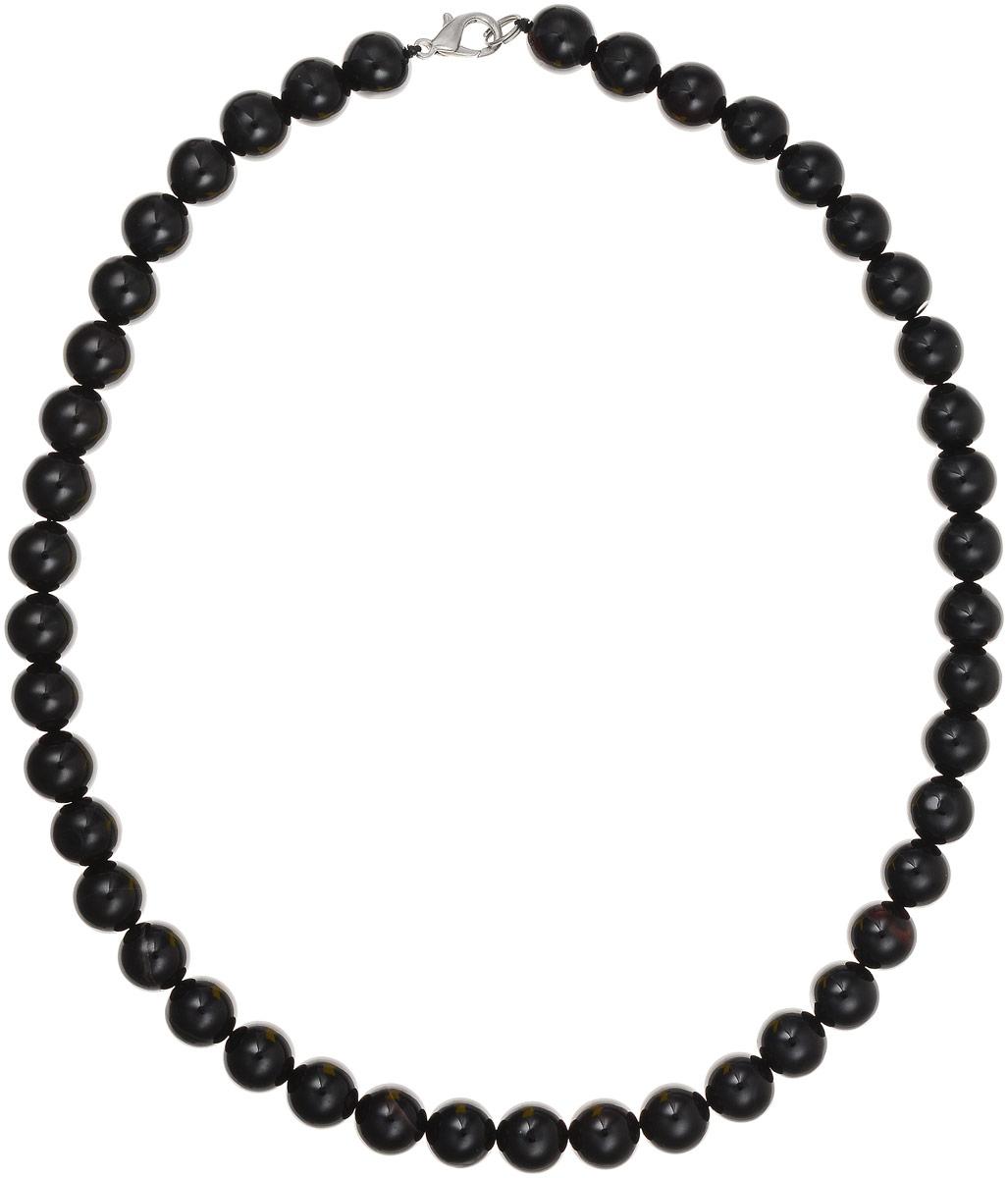 Бусы Art-Silver, цвет: черный, длина 45 см. ЧА10-45-310ЧА10-45-310Бусы Art-Silver выполнены из натурального агата, нанизанного на текстильную нить. Украшение застегивается на практичный карабин из бижутерного сплава. Бусины диаметром 10 мм имеют благородный черный цвет, характерный для агата. Такие бусы украсят как вечерний, так и повседневный наряд.
