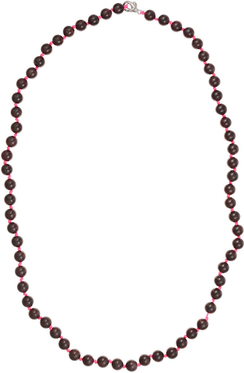 Бусы Art-Silver, цвет: темно-бордовый, длина 60 см. Г8-60-346Г8-60-346Бусы Art-Silver выполнены из натурального граната, нанизанного на текстильную нить. Украшение застегивается на практичный карабин из бижутерного сплава. Мелкие бусины диаметром 6 мм имеют неоднородную окраску с прожилками разнообразной формы, характерную для натурального камня. Нить окрашена в ярко-розовый цвет, который подчеркивает глубокий темно-бордовый оттенок граната.