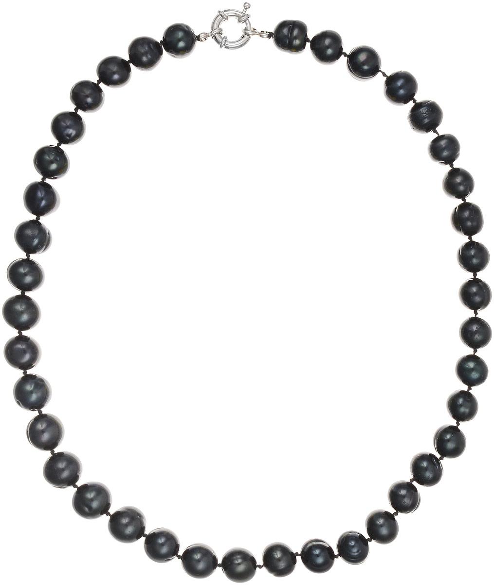 Бусы Art-Silver, цвет: черно-синий, длина 45 см. КЖ11-12А+45-806КЖ11-12А+45-806Бусы Art-Silver выполнены из культивированного жемчуга, нанизанного на текстильную нить. Украшение застегивается на практичный шпренгельный замок. Мелкие бусины диаметром 10 мм из натурального культивированного жемчуга благородного черного цвета с синим отливом имеют слегка неоднородную форму, что подчеркивает естественное происхождение жемчужин.