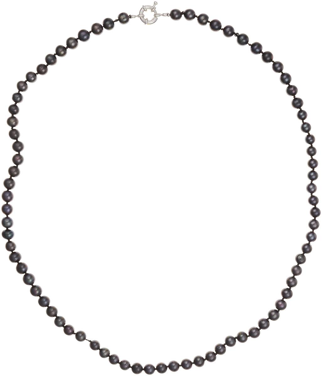 Бусы Art-Silver, цвет: темно-коричневый, фиолетово-зеленый, длина 60 см. КЖ7-8АА+60-1868КЖ7-8АА+60-1868Бусы Art-Silver изготовлены из культивированного жемчуга. Изделие оформлено круглыми бусинами и застегивается на шпренгельный замок из бижутерного сплава.