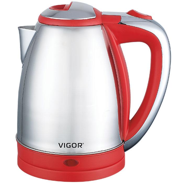 Vigor HX-2026 чайник электрическийHX-2026Современный классический чайник Vigor HX-2026 прост в управлении и долговечен в использовании. Изготовлен из высококачественных материалов. Беспроводное соединение позволяет вращать чайник на подставке на 360°. Для обеспечения безопасности при повседневном использовании предусмотрены функция автовыключения, а также защита от включения при отсутствии воды.