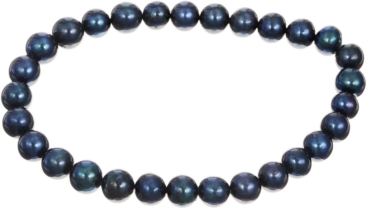 Браслет Art-Silver, цвет: темно-синий, изумрудный. КЖ6-7АА+-489КЖ6-7АА+-489Браслет Art-Silver изготовлен из культивированного жемчуга. Изделие оформлено круглыми бусинами и оснащено эластичной резинкой для удобства надевания.