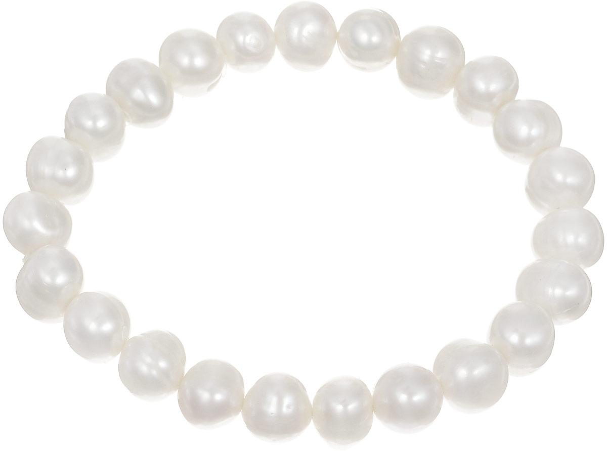 Браслет Art-Silver, цвет: молочный. КЖб9-10А-194КЖб9-10А-194Браслет Art-Silver изготовлен из культивированного жемчуга. Изделие оформлено круглыми бусинами и оснащено эластичной резинкой для удобства надевания.
