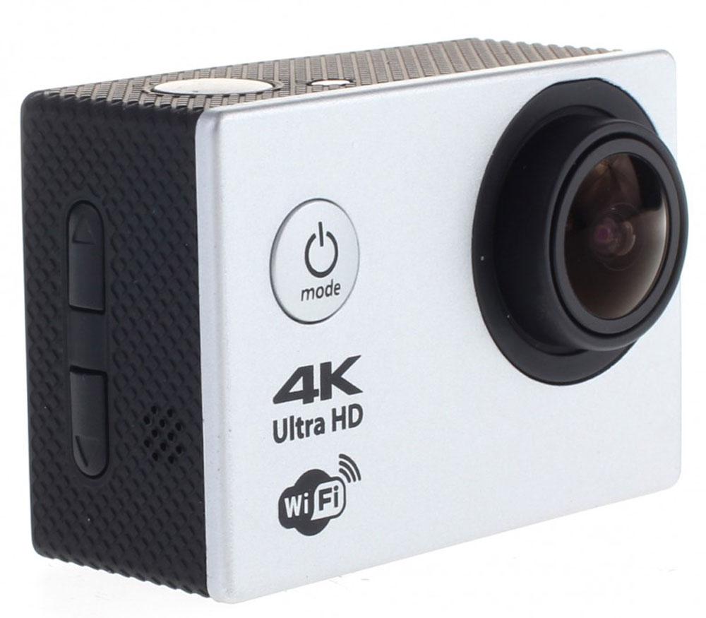 Prolike 4K PLAC001SL, Silver экшн камера6928431230282Экшн-камера Prolike 4K - это маленькая эргономичная видеокамера, созданная специально для спортсменов- экстремалов, мечтающих снять на видео самые яркие моменты своих приключений. Обычная видеокамера не выдерживает сложных условий съемки, скорости, перепадов температур, тогда как экшн-камера Prolike 4K благодаря конструктивным особенностям и техническим характеристикам легко справляется с этими задачами. Важным преимуществом камеры является маленький вес и миниатюрные габариты, способствующие фиксации устройства на теле спортсмена, не стесняя свободы движений. Для установки камеры предусмотрены дополнительные аксессуары и крепления, которыми комплектуется камера. Прочность и надежность при высоких нагрузках обеспечивает влагозащитный и противоударный корпус камеры, а дополнительный защитный аквабокс предназначен для подводных съемок.