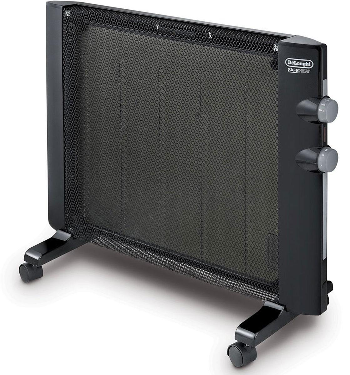 DeLonghi HMP1500 микатермический обогревательHMP1500Легкий и стильный способ обогрева вашей комнаты. Гладкий, современный дизайн DeLonghi HMP1500 идеально впишется в любой интерьер. Настраивайте желаемую температуру в помещении при помощи термостата и двух уровней мощности работы; выберите режим HIGH для 1500 Вт или режим LOW для 750 Вт. Эффективное использование свободного пространства с возможностью крепления обогревателя на стену. Просто снимите напольные ножки и повесьте обогреватель на любую стену (настенный крепеж в комплекте).