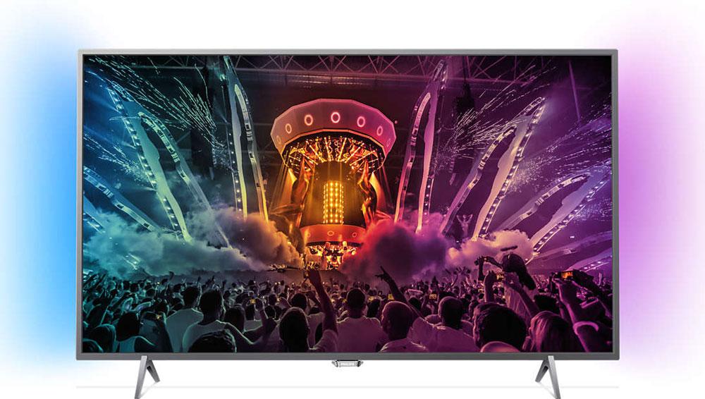 Philips 55PUS6401/60 телевизорPhilips 55PUS6401/60Оцените изысканный дизайн и высокую производительность модели Philips 55PUS6401/60. Минималистский стиль подставки и великолепное изображение 4К Ultra HD с процессором Pixel Plus Ultra HD. Android TV предоставляет бесконечные возможности для развлечений! Вы приложили все усилия, чтобы сделать дом уютным и комфортным. Почему же не выбрать телевизор, который подчеркнет изящный дизайн интерьера? Уникальная технология Philips Ambilight визуально расширяет границы экрана и усиливает впечатления от просмотра за счет проекции светового ореола по двум сторонам от экрана. Эта технология увеличивает яркость и насыщенность красок, позволяя полностью погрузиться в происходящее на экране. Телевизор Ultra HD в 4 раза превосходит разрешение обычного телевизора Full HD. Благодаря 8 миллионам пикселей и уникальной технологии Ultra Resolution качество изображения не будет зависеть от исходного контента. Улучшенная четкость и глубина изображения, великолепный...