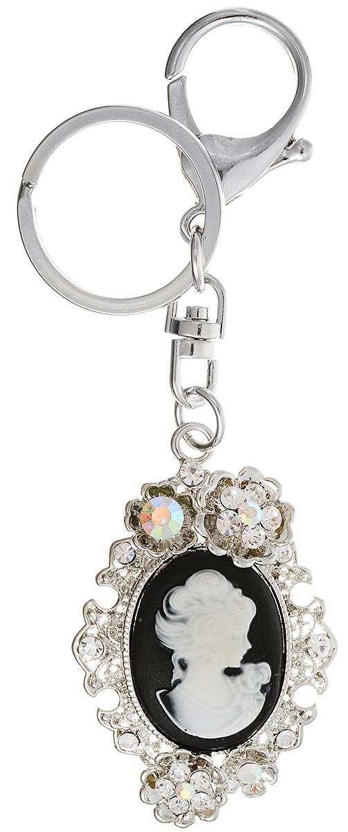 Брелок-камея Светлый образ от D.Mari. Гонконг117918Оригинальный дизайнерский брелок-камея Светлый образ от D.Mari, выполнен из металла и смолы. Декорировано изделие стразами. Изделие оснащено кольцом для ключей и карабином.