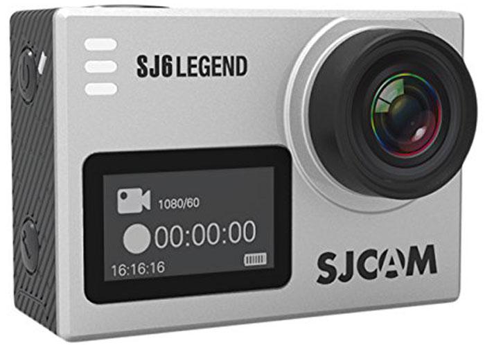 SJCAM SJ6 Legend, Silver экшн-камераSJ6LEGEND_SilverSJCAM SJ6 Legend - самая продвинутая модель экшн-камеры от SJCAM. При своих мини-размерах (40 мм х 37 мм х 48 мм) и ультра-легком весе (55 грамм включая батарею) данная камера обладает мощным техническим оснащением и широким функционалом. За съемку фото и видео отвечает новейшая оптика и 16 Мпикс сенсор от Panasonic MN34120PA. Объектив у камеры - широкоугольный (166 градусов) с возможностью изменения угла обзора. Встроенный Gyro- сенсор стабилизирует изображение и полностью устраняет мелкую тряску. Съемка возможна в .mp4 и .mov формате. Фотографии возможны как в формате .raw, так и .jpg. На оборотной стороне расположен сенсорный экран-видоискатель с диагональю 2 дюйма, спереди появился удобный информационный экран размером 0,96 дюйма. Благодаря съемному аквабоксу камера может снимать под водой на глубине до 30 метров. Так же имеется специальный underwater режим для восстановления красного цвета при съемке. На поверхности аквабокс ...
