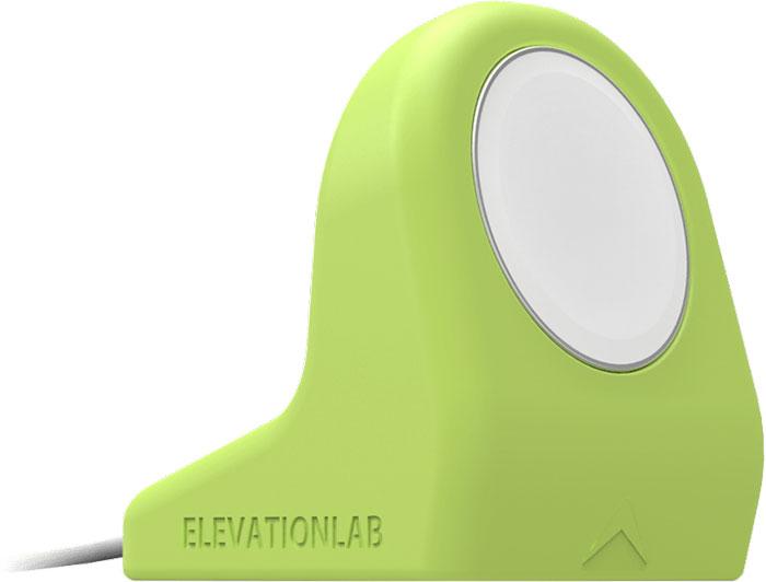 Elevation Lab NightStand, Matte Sport Green док-станция для Apple WatchNS-105Ежедневно заряжать Apple Watch теперь ещё удобнее и безопаснее с подставкой Elevation Lab NightStand, изготовленной из высококачественного силикона. NightStand крепится к столу или прикроватной тумбочке на присоске, так что случайное падение исключено. Адаптирована для зарядного устройства Apple Watch Charger. Благодаря компактному дизайну она удачно впишется в ваш интерьер. Изготовлена из прочного высококачественного силикона, применяемого в медицинском оборудовании Надёжно удерживает магнитный зарядный кабель Apple Watch Фиксируется на плоской поверхности с помощью присоски Можно установить вертикально Кабель легко вынимается при необходимости Подставка несовместима с блочным браслетом Apple Зарядное устройство в комплект не входит.