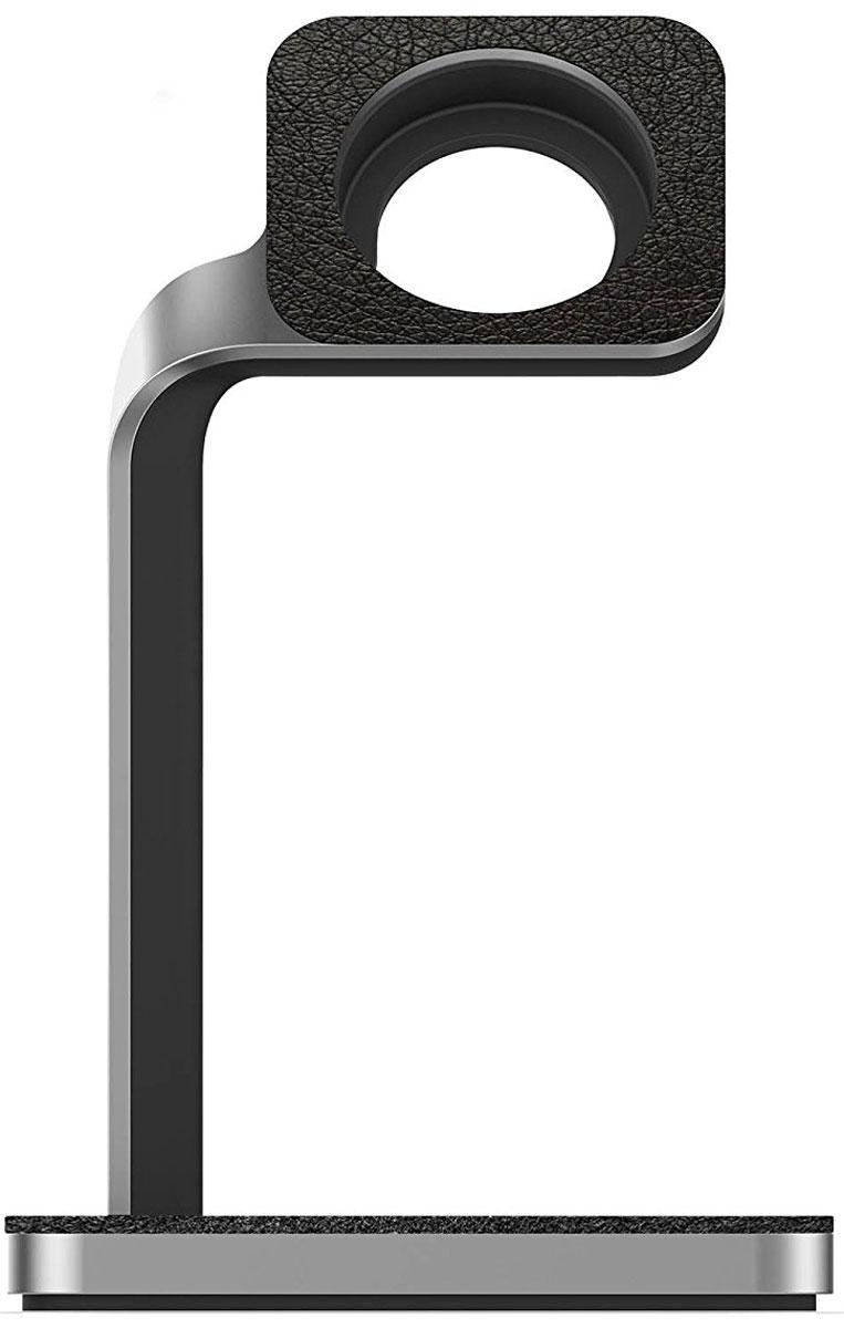 Mophie Apple Watch Dock, Balck Silver док-станция для Apple Watch
