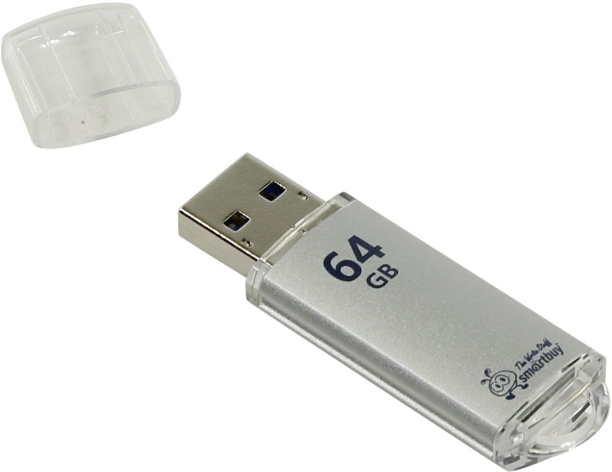 SmartBuy V-Cut 3.0 64GB, Silver USB-накопительSB64GBVC-S3Флеш-накопитель SmartBuy V-Cut 3.0 имеет классическую и удобную форму. При малых размерах у устройства внушительный объем памяти- 64 ГБ! У флешки есть отверстие для шнурка, что позволит носить ее всегда с собой.
