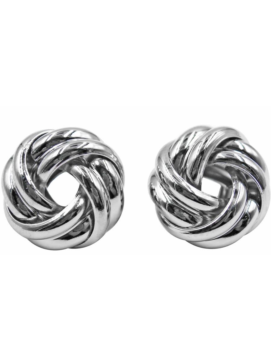 Серьги Taya, цвет: серебристый. T-B-10769-EARR-SILVERT-B-10769-EARR-SILVERСерьги-гвоздики с заглушкой металл-пластик. Округлые сережки выполнены в виде узла из двух металлических ободков. Размеры: диаметр серьги 1,5 см.