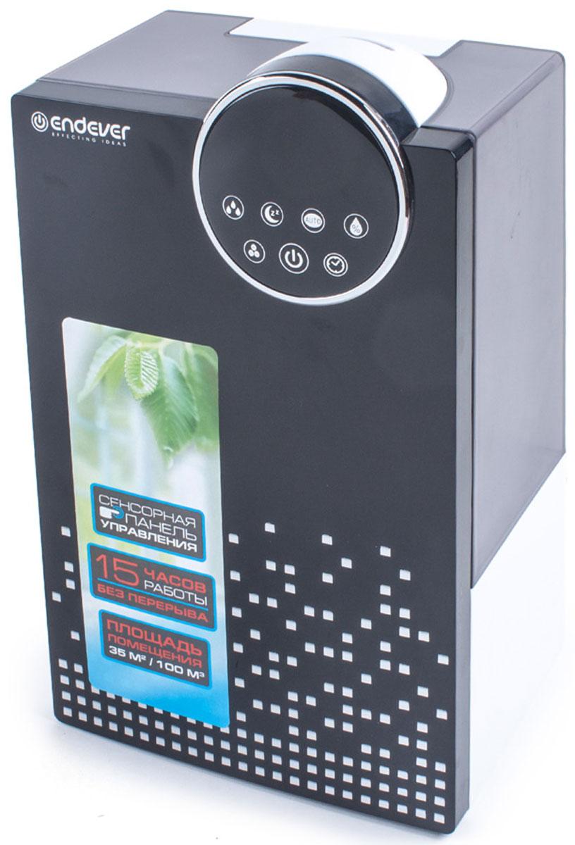 Endever Oasis 200 увлажнитель воздухаOasis 200Ультразвуковой увлажнитель воздуха Endever Oasis 200 – это одно из самых современных на сегодняшний день ультразвуковых устройств, позволяющее быстро и эффективно повысить содержание водяного пара в помещении. Он качественно увлажняет, очищает и озонирует воздух, поддерживает необходимый уровень влажности, тем самым формирует наиболее благоприятную и комфортную для человека среду обитания. Endever Oasis 200 поражает своими функциональными возможностями и стильным внешним видом! Увлажнитель Oasis 200 это прекрасный образец многофункциональности, высоких технологий, и эргономичного дизайна. Ультразвуковой увлажнитель Endever Oasis 200 имеет три режима работы, можно установить низкий, средний или высокий уровень увлажнения. Endever Oasis 200 также оснащен режимом автоматического контроля влажности на максимально комфортном для человека уровне, 55-68 % вы можете установить и свой собственный уровень влажности, с помощью встроенного...
