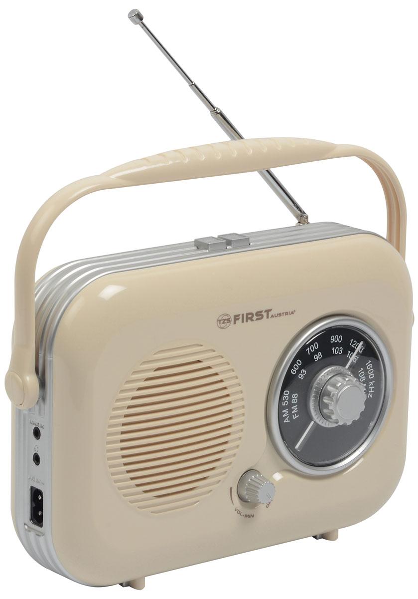 First FA-1906, Cream радиоприемникFA-1906 CreamFirst FA-1906 - компактный недорогой радиоприемник с поддержкой диапазонов AM и FM. Приемник обладает удобной ручкой для переноски и телескопической антенной. Для подключения дополнительных аудио-устройств имеются линейный аудиовход и разъем для наушников. Питание осуществляется как от сети, так и от 4 батареек типа UM2 (не входят в комплект).