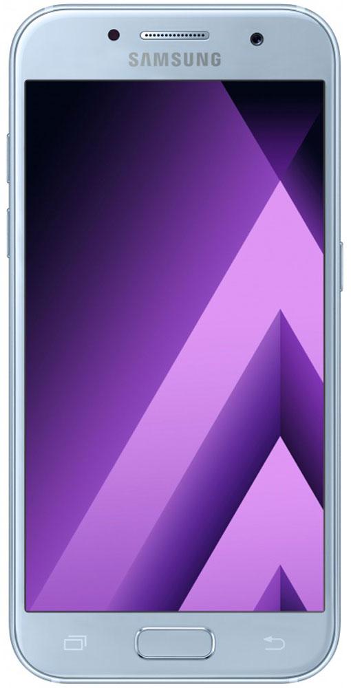 Samsung SM-A520F Galaxy A5 (2017), Light BlueSM-A520FZBDSERСовременный минималистичный корпус из 3D-стекла и металла, а также 5,2-дюймовый экран FHD sAMOLED - все это отличительные черты Galaxy A5 (2017). Плавные линии корпуса, отсутствие выступов камеры, утонченная и элегантная отделка позволяют получить настоящее удовольствие от использования смартфона. Будьте законодателями трендов, а не просто следуйте им. Стильные цветовые решения идеально гармонируют с корпусом из стекла и металла, создавая динамичный и цельный образ. Четыре модных цвета на выбор превосходно дополнят ваш стиль. Благодаря высокому разрешению основной камеры в 16 Mп фотографии всегда будут яркими и красочными. Вместе с Galaxy A5 (2017) почувствуйте себя профессиональным фотографом. Наличие широкого выбора фильтров позволяет подойти к процессу съемки более креативно. Теперь каждая фотография будет особенной. Где бы вы ни находились - на вечерней прогулке или в ночном клубе - ваши фотографии будут идеальными. ...