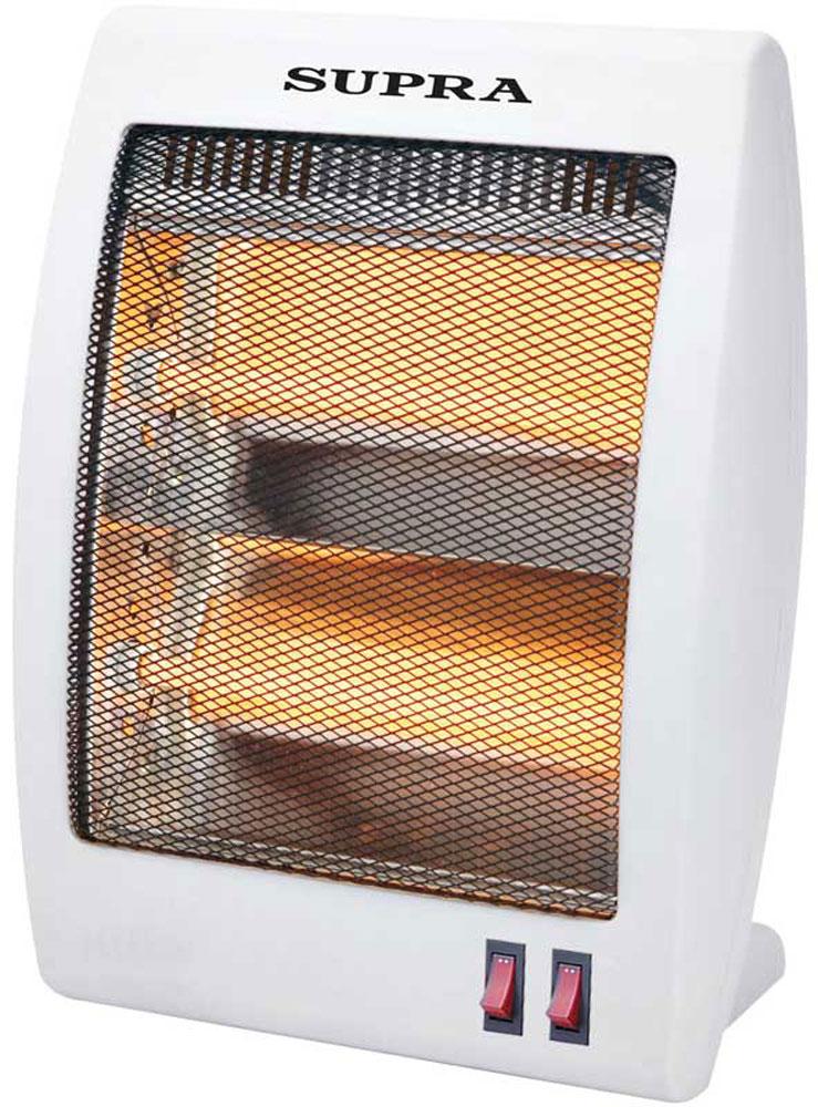 Supra QH-803 обогревательQH-803Кварцевый инфракрасный обогреватель Supra QH-803 идеален для направленного обогрева. Электрический нагревательный элемент с излучающими пластинами генерируют направленное инфракрасное излучение, посредством которого в окружающую среду поступает тепло. Одним из главных преимуществ устройства является то, что оно не выжигает кислород в помещении. Среди привлекательных характеристик прибора стоит также отметить наличие двух ступеней мощности (400/800 Вт). Кроме того, модель оснащена защитой при опрокидывании - устройство автоматически отключается, предотвращая возможное возгорание.