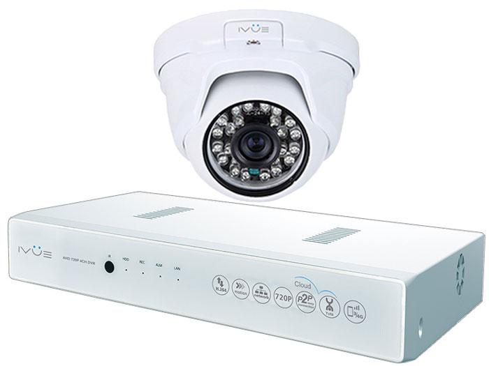 iVue 1080N-1MPX-1D система видеонаблюдения1080N-1MPX-1DКомплект видеонаблюдения AHD 1MPX Старт Плюс - это профессиональный набор системы охранного видеонаблюдения за вашим бизнесом, домом, дачей. Комплект включает в себя видеорегистратор AHD, одну внутреннюю видеокамеру 1.0 Mпикс (720P), которая прекрасно подойдёт к интерьеру любого помещения, блок питания, соединительный кабель и все необходимые аксессуары. Наблюдать вы можете из любой точки мира через интернет с помощью компьютера, планшета или смартфона. AHD - самая современная технология кодирования и передачи видеоизображения по коаксиальному кабелю! Технология AHD позволяет передавать изображение с разрешением до 2 Мпикс на расстояние до 500 метров без потери качества изображения! Простота подключения обеспечивается облачной технологией P2P. У вас так же есть возможность дополнить этот набор одной, двумя или тремя камерами по вашему выбору. При необходимости вы можете разнести камеры на расстояние до 500 метров (кабель вы можете приобрести...
