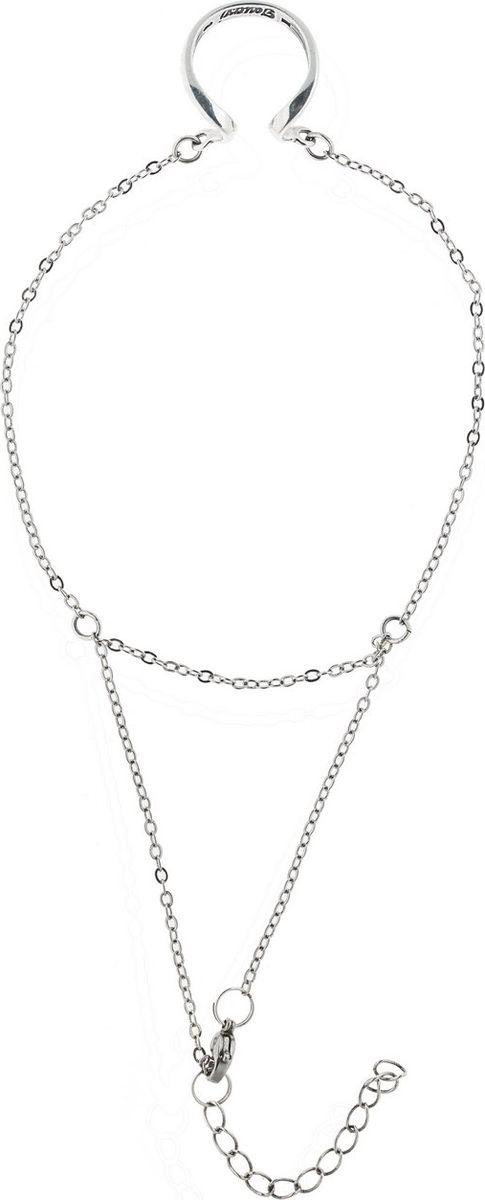 Кольцо Jenavi Этюд. Оцелул, цвет: серебро. Размер 18f7343490Коллекция Этюд, Оцелул (Браслет-кольцо) гипоаллергенный ювелирный сплав,Черненое серебро, вставка без вставок, цвет - серебро, , размер - 18