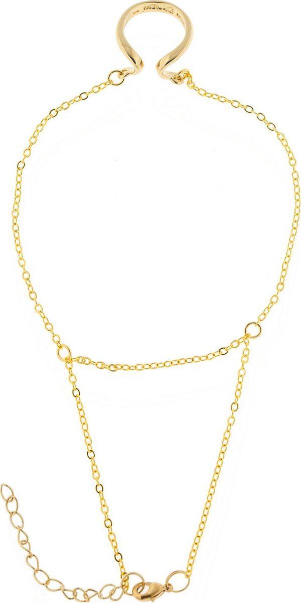 Кольцо Jenavi Этюд. Оцелул, цвет: золотой. Размер 18f734p490Коллекция Этюд, Оцелул (Браслет-кольцо) гипоаллергенный ювелирный сплав,Позолота, вставка без вставок, цвет - золотой, , размер - 18
