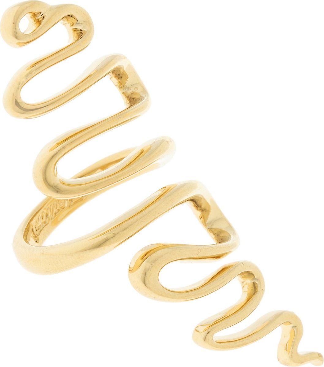 Кольцо Jenavi Этюд. Кимпу, цвет: золотой. Размер 18f736p090Коллекция Этюд, Кимпу (Кольцо) гипоаллергенный ювелирный сплав,Позолота, вставка без вставок, цвет - золотой, , размер - 18