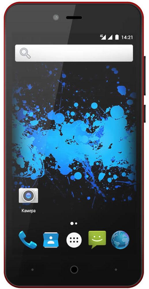 Highscreen Easy L Pro, Red23544Highscreen Easy L Pro - простой и доступный смартфон с хорошей батареей, отличным экраном, да еще и с поддержкой 4G/LTE. Что еще нужно для полного счастья? Четыре правильных цвета из которых вы точно выберете свой. Матовый шероховатый корпус имеет прекрасную эргономику и сбалансированные размеры. Яркий и контрастный HD-экран, выполненный по технологии OnCell, обеспечивает естественную цветопередачу. Повышенная чувствительность дисплея поможет в динамичных играх и при наборе текста, когда требуется моментальный отклик и точное попадание. Данная модель работает на базе чистого Android Marshmallow, производитель не ставит дополнительные приложения и игры, чтобы не занимать лишнюю память и дать вам свободу выбора. Ощутите всю прелесть точной навигации, вы сможете точно определять свое местоположение и быстро прокладывать маршруты из точки A в точку B. Телефон сертифицирован EAC и имеет русифицированный интерфейс меню, а...