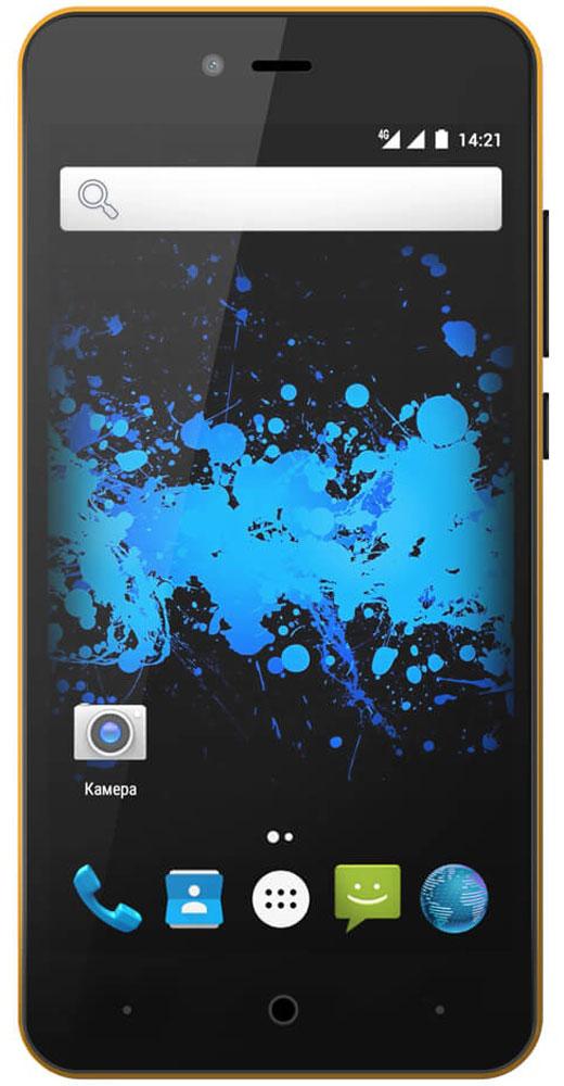 Highscreen Easy L Pro, Yellow23545Highscreen Easy L Pro - простой и доступный смартфон с хорошей батареей, отличным экраном, да еще и с поддержкой 4G/LTE. Что еще нужно для полного счастья? Четыре правильных цвета из которых вы точно выберете свой. Матовый шероховатый корпус имеет прекрасную эргономику и сбалансированные размеры. Яркий и контрастный HD-экран, выполненный по технологии OnCell, обеспечивает естественную цветопередачу. Повышенная чувствительность дисплея поможет в динамичных играх и при наборе текста, когда требуется моментальный отклик и точное попадание. Данная модель работает на базе чистого Android Marshmallow, производитель не ставит дополнительные приложения и игры, чтобы не занимать лишнюю память и дать вам свободу выбора. Ощутите всю прелесть точной навигации, вы сможете точно определять свое местоположение и быстро прокладывать маршруты из точки A в точку B. Телефон сертифицирован EAC и имеет русифицированный интерфейс меню, а...