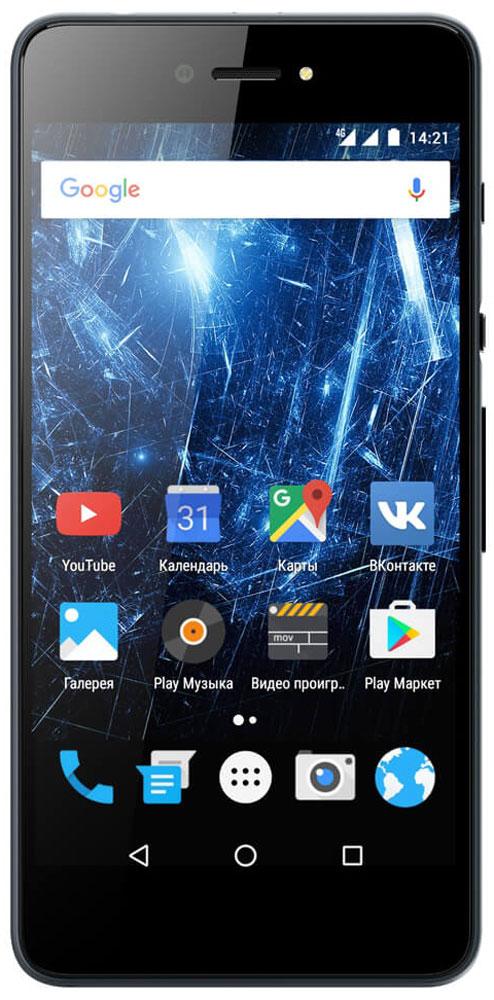 Highscreen Razar Pro, Gray23846Highscreen Razar Pro - компактный смартфон с прекрасной селфи-камерой. В борьбе за технические характеристики многие производители забывают уделить внимание дизайну. Highscreen считает дизайн одним из главных преимуществ, ведь испытывать приятные эмоции от взаимодействия со своим смартфоном - это прекрасно. Highscreen Razar Pro имеет потрясающую текстуру металла, которая достигается девятиступенчатым процессом анодирования и полирования, а глубокий черный цвет вызывает восхищение. Продуманная эргономика, мягкие изгибы корпуса и минимальная толщина 7.6 мм - все это Razar Pro. Сдвиньте вниз специальную кнопку HiSlide, и камера запустится. В одно движение переключайтесь между основной и фронтальной камерами, а чтобы сделать фото просто нажмите кнопку громкости вниз. Эта функция незаменима при съемке селфи или в холодное время года, когда так не хочется снимать перчатки. Широкоугольная 8 Мпикс фронтальная камера позволяет захватить...