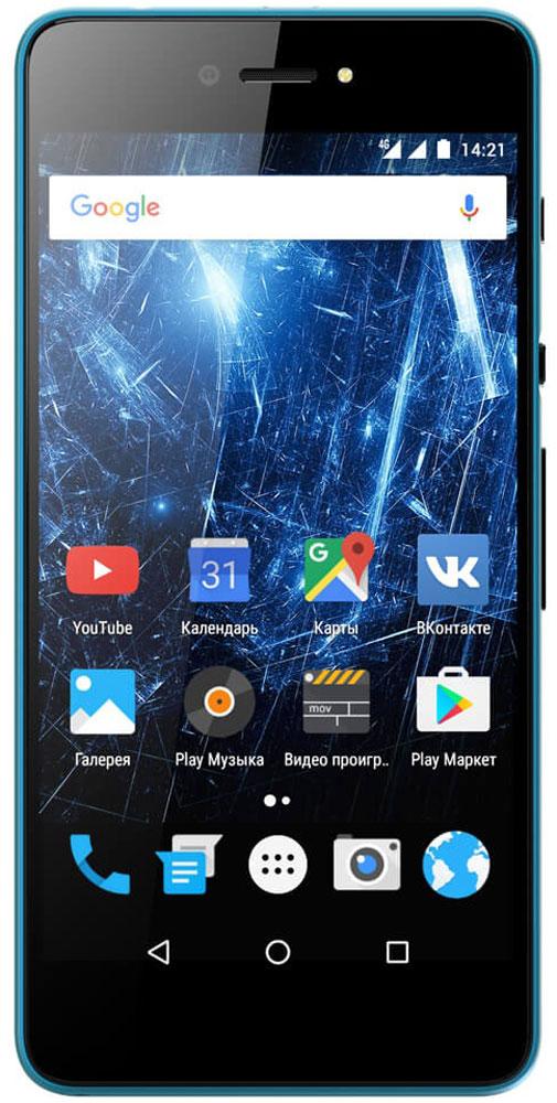 Highscreen Razar, Blue23844Highscreen Razar - компактный смартфон с прекрасной селфи-камерой. В борьбе за технические характеристики многие производители забывают уделить внимание дизайну. Highscreen считает дизайн одним из главных преимуществ, ведь испытывать приятные эмоции от взаимодействия со своим смартфоном - это прекрасно. Продуманная эргономика, мягкие изгибы корпуса и минимальная толщина 7.6 мм - все это Razar. Сдвиньте вниз специальную кнопку HiSlide, и камера запустится. В одно движение переключайтесь между основной и фронтальной камерами, а чтобы сделать фото просто нажмите кнопку громкости вниз. Эта функция незаменима при съемке селфи или в холодное время года, когда так не хочется снимать перчатки. Широкоугольная 5 Мпикс фронтальная камера Highscreen Razar позволяет захватить как можно больше объектов в кадре, а встроенная технология улучшения изображения поможет скрыть недостатки или изменять цвет в реальном времени. Основная камера на 8...
