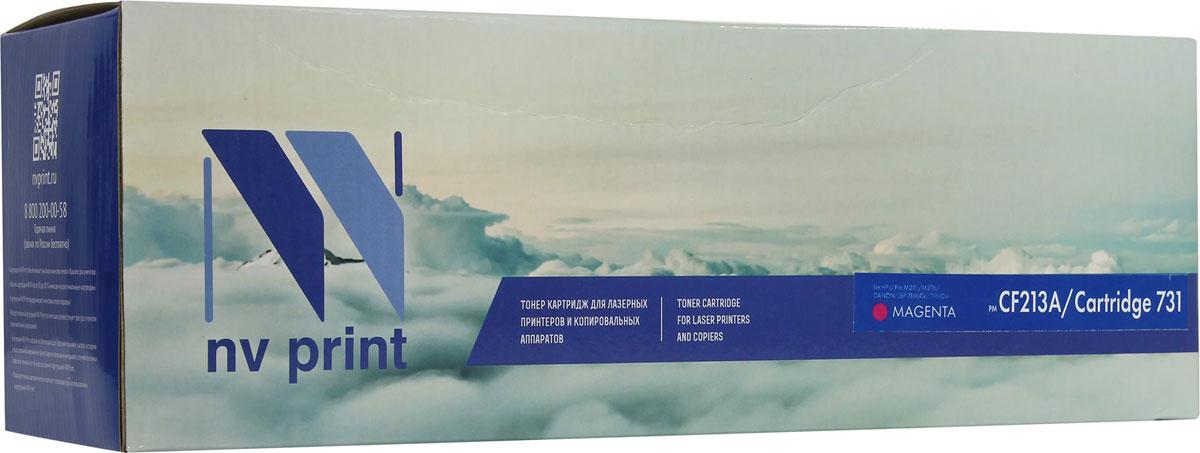NV Print CF213A/CANON731M, Magenta тонер-картридж для HP LaserJet Pro M251/M276/CANON LBP 7100Cn/7110CwCF213A/CANON731MСовместимый лазерный картридж NV Print для печатающих устройств Canon/HP - это альтернатива приобретению оригинальных расходных материалов. При этом качество печати остается высоким. Картридж обеспечивает повышенную чёткость чёрного текста и плавность переходов оттенков серого цвета и полутонов, позволяет отображать мельчайшие детали изображения. Лазерные принтеры, копировальные аппараты .и МФУ являются более выгодными в печати, чем струйные устройства, так как лазерных картриджей хватает на значительно большее количество отпечатков, чем обычных. Для печати в данном случае используются не чернила, а тонер.