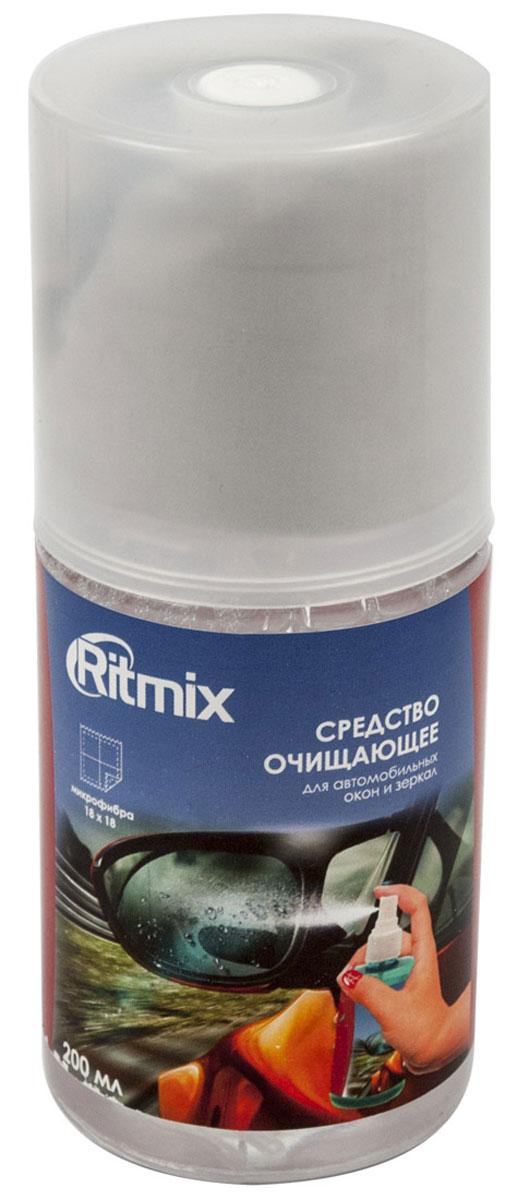Ritmix RC-200BWC очищающее средство для автомобильных стекол и зеркалRC-200BWCНабор Ritmix RC-200BW в составе спрея-очистителя и фибры предназначен для ухода за стеклами и зеркалами в автомобилях от пыли, грязи, отпечатков пальцев и жировых разводов. Отлично подходит и для других оптических поверхностей. Способ применения: Снять крышку и распылить на обрабатываемую поверхность. Салфеткой убрать видимые загрязнения с поверхности. При необходимости повторить обработку. Плотно закрыть крышку. Рекомендации по использованию: Для достижения максимального эффекта рекомендуется аккуратно убрать салфеткой видимые загрязнения с очищаемой поверхности, а затем протереть поверхность чистой стороной салфетки. Меры предосторожности: Применять только по назначению. Не употреблять внутрь. Хранить в недоступном для детей месте. При попадании в глаза промыть холодной водой. В случае если раздражение не исчезнет, обратиться к врачу.