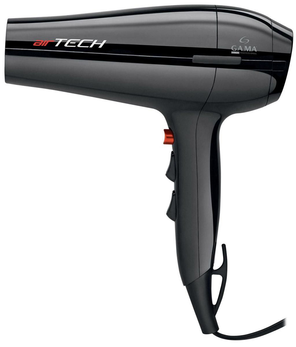 GA.MA Airtech, Black фенA21.AIRTECH.NRС феном для волос GA.MA Airtech вы не только быстро высушите волосы, но и сделаете превосходную укладку как для вьющихся, так и для прямых волос, используя диффузор или насадку-концентратор. Фен обладает высокой мощностью 2300 Вт и оснащен мотором DC, благодаря которому он такой легкий и маневренный. Этот фен идеально подходит для домашнего использования. Вы можете выбрать наиболее подходящий из 6 режимов сушки, комбинируя 2 скорости и 3 температурных режима, в зависимости от того нужна вам быстрая сушка или деликатный уход за волосами. Для фиксации укладки используйте кнопку «холодный обдув», которая дает возможность моделировать локоны руками под потоком холодного воздуха. При использовании диффузора поток горячего воздуха будет не слишком агрессивный и рассеянный, что идеально подходит для придания формы и объема волнистым волосам. Рекомендуется использовать насадку- концентратор для прямых волос и более быстрой сушки. На шнуре фена есть удобное...