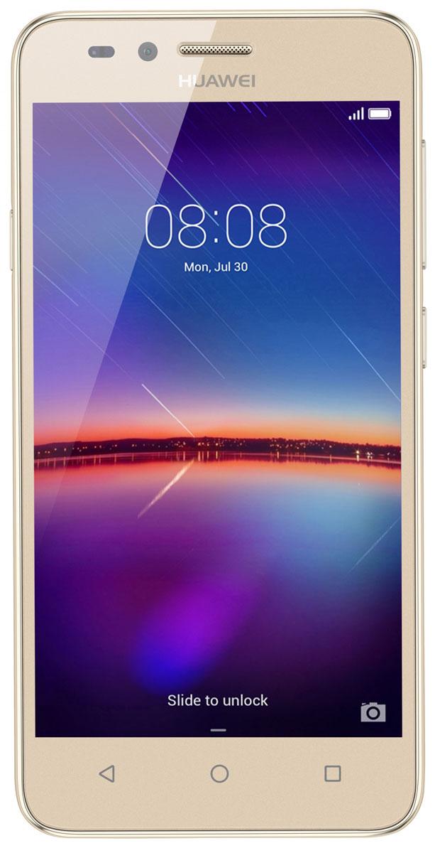 Huawei Y3 II (LUA-U22), Gold51050LVXHuawei Y3 II - стильный и недорогой смартфон с широкими возможностями. Черытехъядерный процессор MediaTek MT6582M с частотой 1.3 ГГц и оперативная память 1 ГБ позволяют использовать все современные мобильные приложения. Коммуникационные возможности представлены Bluetooth 4.0, Wi-Fi 802.11 b/g/n при помощи которых можно воспользоваться беспроводной гарнитурой или подключиться к интернету. Также Huawei Y3 II не даст вам заблудится в городе и всегда укажет дорогу благодаря функции GPS. Модель оборудована стандартными разъемами - 3.5 мм для подключения наушников и microUSB - для зарядки и присоединения к USB-порту компьютера. Huawei Y3 II также обладает функциональным мультимедиа-плеером, способным воспроизводить аудио и видео- файлы самых популярных форматов. Девайс обладает двумя слотами для SIM-карт, слотом для карт памяти microSD (до 32 ГБ). Смартфон оснащен двумя камерами: основной на 5 мегапикселей и фронтальной на 2...