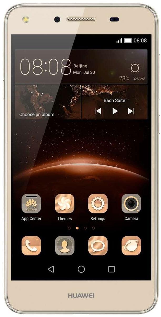Huawei Y5 II (CUN-U29), Gold51050LRHHuawei Y5 II - стильный и недорогой смартфон с широкими возможностями. Устройство приятно держать в руке. Черытехъядерный процессор MediaTek MT6582 с частотой 1.3 ГГц и оперативная память 1 ГБ позволяют использовать все современные мобильные приложения. Операционная система Android с фирменным пользовательским интерфейсом EMUI от Huawei предоставляет пользователю новый графический интерфейс, современный дизайн иконок и простоту управления. Коммуникационные возможности представлены Bluetooth 4.0, Wi-Fi 802.11 b/g/n при помощи которых можно воспользоваться беспроводной гарнитурой или подключиться к интернету. Также Huawei Y5 II не даст вам заблудится в городе и всегда укажет дорогу благодаря функции GPS. Модель оборудована стандартными разъемами - 3.5 мм для подключения наушников и microUSB - для зарядки и присоединения к USB-порту компьютера. Huawei Y5 II также обладает функциональным мультимедиа-плеером, способным воспроизводить аудио и...